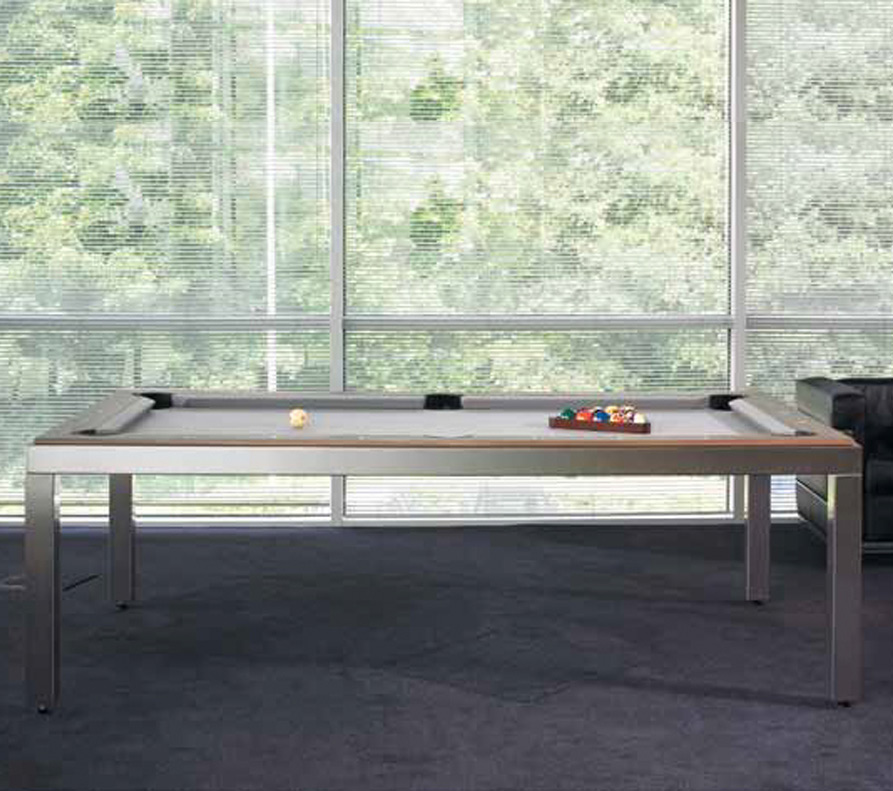 Fusion Tables Brushed Stainless Steel