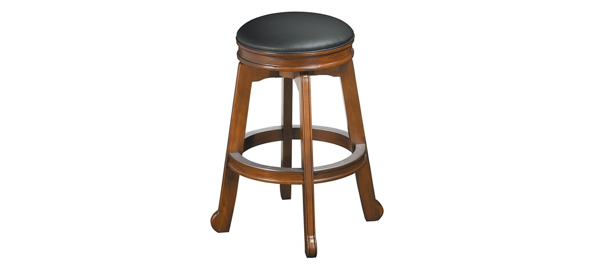 Brushed Nickel Backless Bar Stools